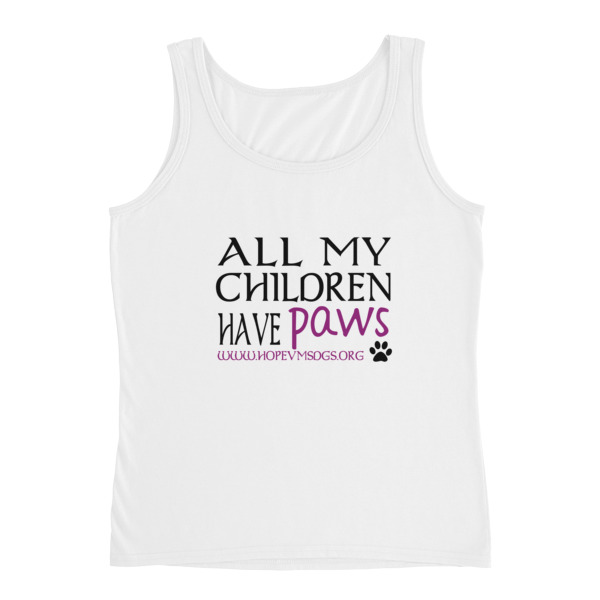 All my children have paws – Ladies Tank